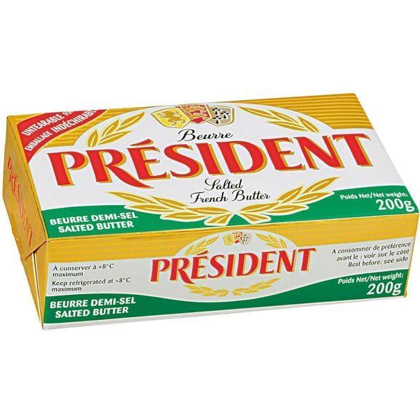Manteiga-com-sal-President-200g