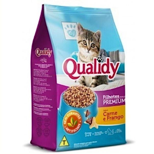 Alimento-para-gatos-filhotes-sabor-carne-e-frango-Qualid-500g