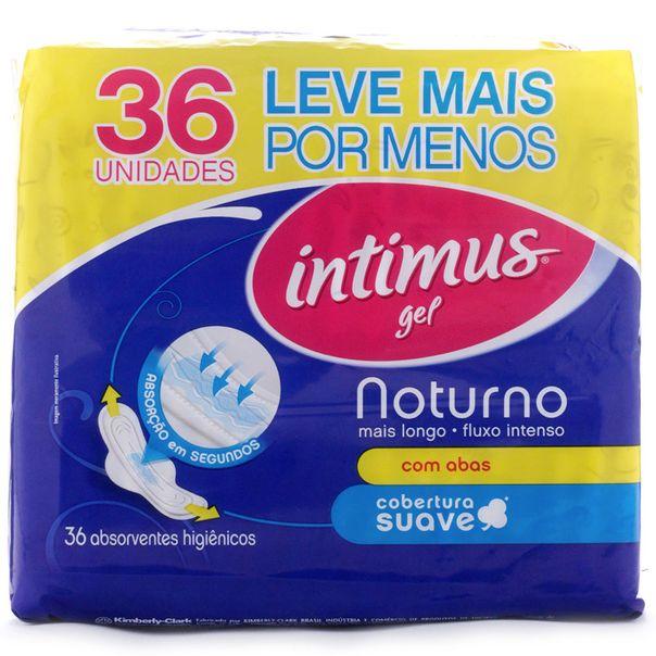 Absorvente-Intimus-Gel-Cobertura-Suave-Noturno-com-Abas-com-36-Unidades