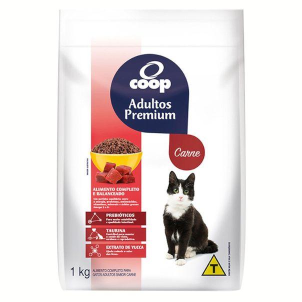 Alimento-para-Gatos-Coop-Adultos-Premium-Carne-1kg