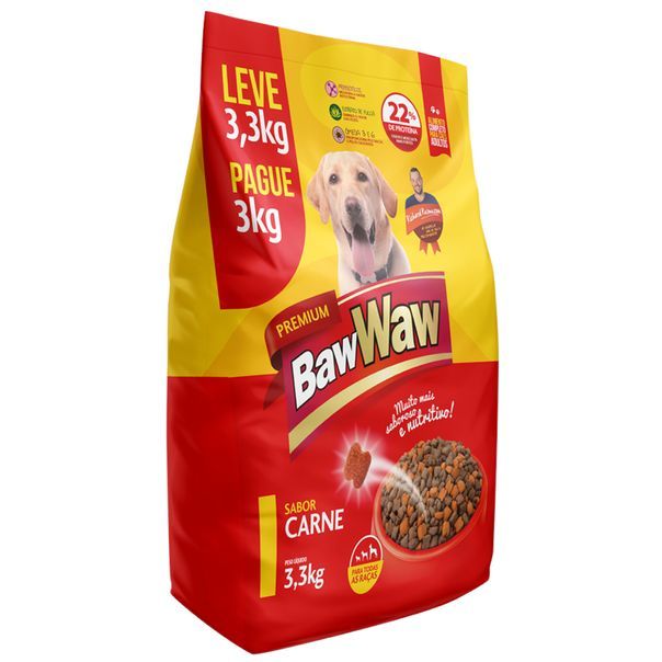 Racao-para-caes-sabor-carne-Baw-Waw-33kg