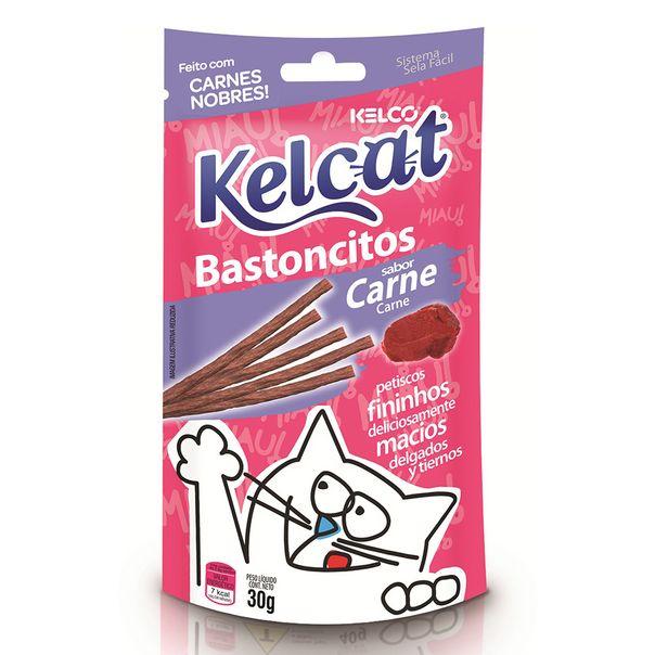 Alimento-para-gatos-bastoncitos-sabor-carne-Kelcat-30g