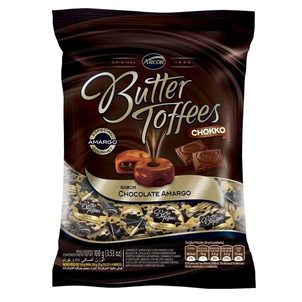 Bala-butter-toffees-sabor-chocolate-amargo-Arcor-100g