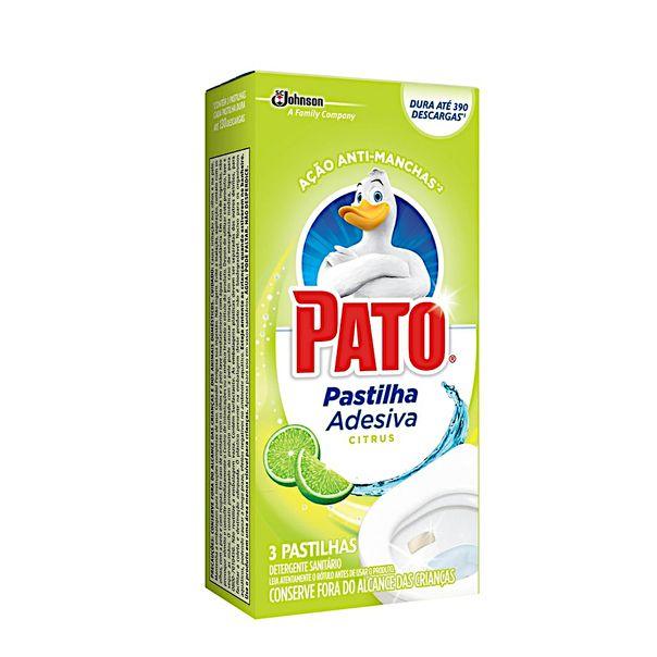 Desodorizador-Sanitario-Pastilha-Adesiva-Citrus-Pato-com-3-Unidades