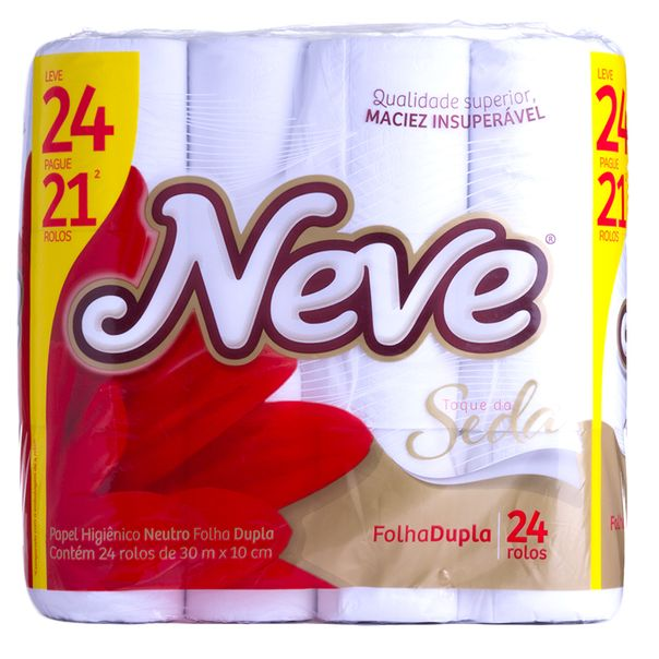 Papel-Higienico-Folha-Dupla-Neve-compacto-Leve-24-Pague-21-com-30-Metros