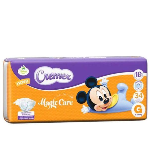 Fralda-descartavel-Disney-Magic-care-tamanho-g-com-34-unidades-Cremer