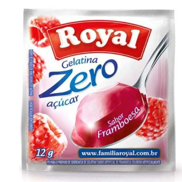 Gelatina-zero-acucar-sabor-framboesa-Royal-12g