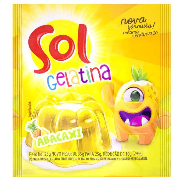 Gelatina-sabor-abacaxi-Sol-25g