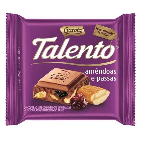 Chocolate-talento-ao-leite-de-amendoas-e-passas-Garoto-25g