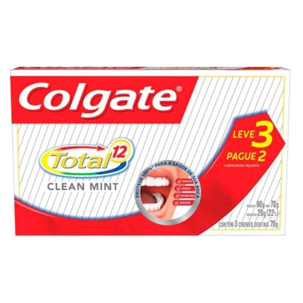 Creme-dental-total-12-clean-mint-leve-3-pague-2-Colgate-70g