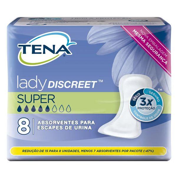 Absorvente-geriatrico-lady-discreet-super-Tena-com-8-unidades
