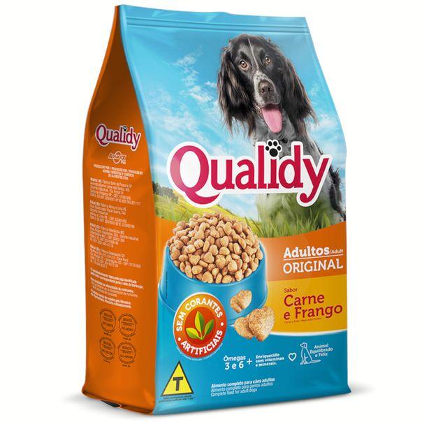 Racao-para-caes-adulto-original-sabor-carne-e-frango-Qualidy-1kg