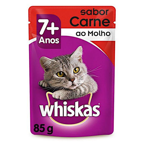 Racao-umida-para-gatos-adultos-sabor-carne-ao-molho-sache-Whiskas-85g