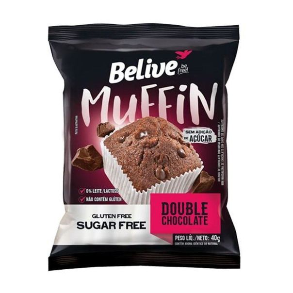 Muffin-double-chocolate-zero-Belive-40g