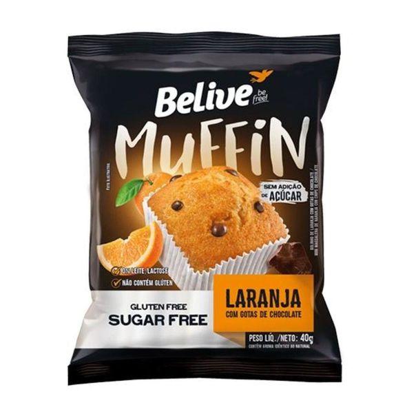 Muffin-laranja-zero-acucar-lactose-e-gluten-Belive-40g