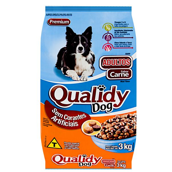 Racao-para-caes-adultos-sabor-carne-Qualidy-3kg