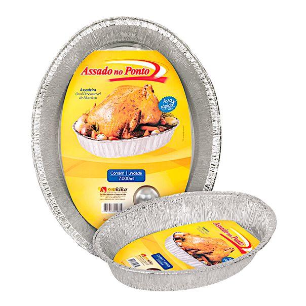 Assadeira-de-aluminio-descartavel-oval-kiko-7000ml