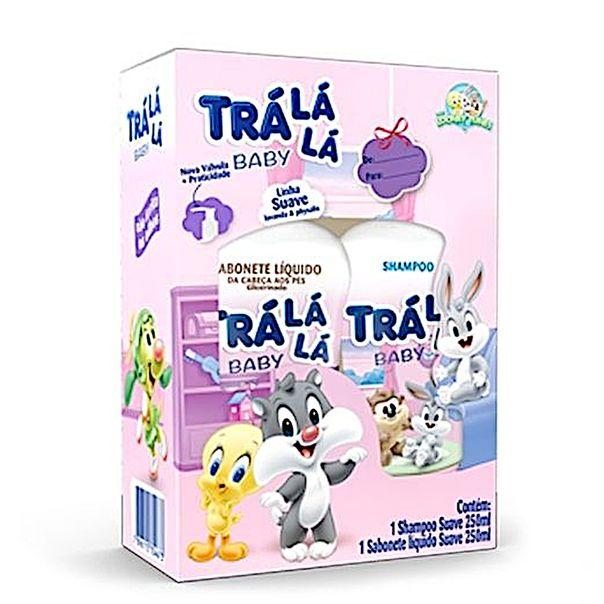 Kit-shampoo---sabonete-liquido-baby-suave-Tra-La-La-250ml