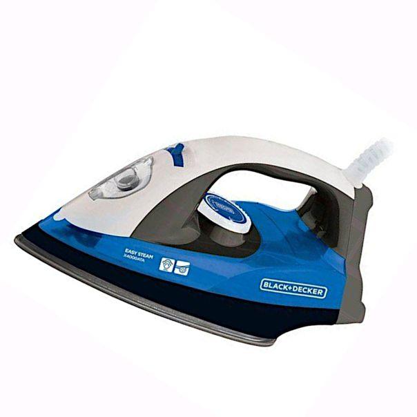 Ferro-a-vapor-azul-Black-Decker-127v