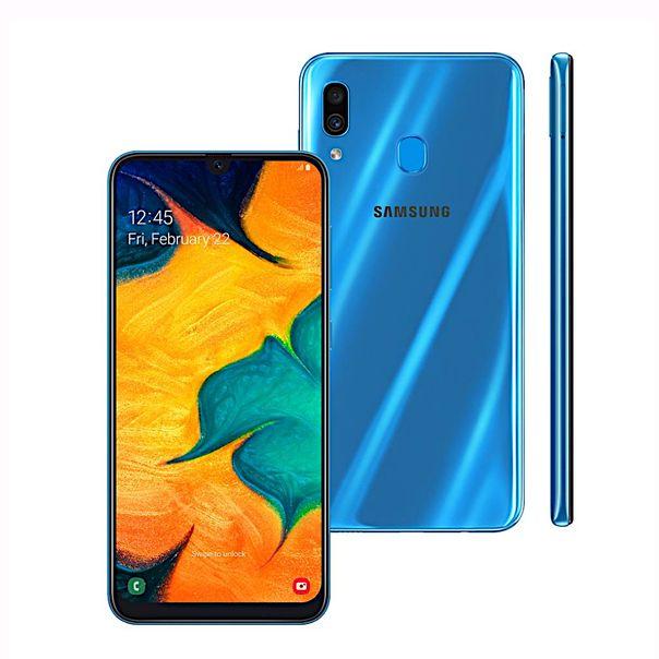 Smartphone-galaxy-a30-azul-64gb-tela-infinita-Samsung-