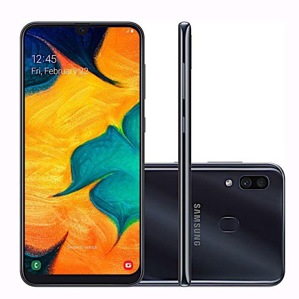 Smartphone-galaxy-a30-preto-64gb-tela-infinita-Samsung-