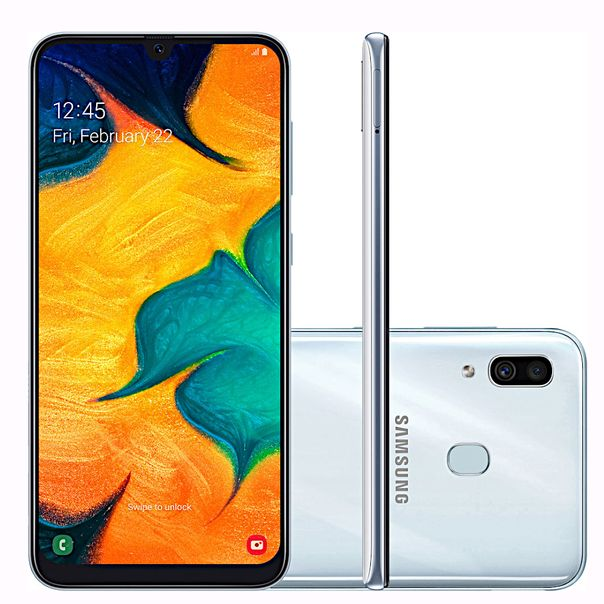 Smartphone-galaxy-a30-branco-64gb-tela-infinita-Samsung-
