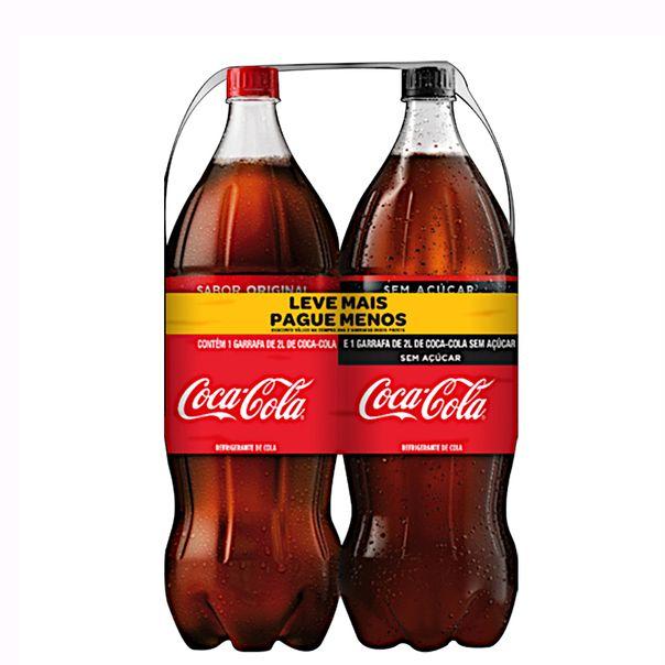 Kit-Refrigerante-Coca-Cola--Refrigerante-Coca-Cola-sem-Acucar-2l-Cada-Leve-Mais-Pague-Menos