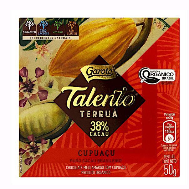 Chocolate-Meio-Amargo-38-Cacau-Organico-Cupuacu-Zero-Lactose-Garoto-Talento-Terrua-50g