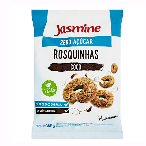 Biscoito-Rosquinha-Integral-Coco-Zero-Acucar-Jasmine-150g