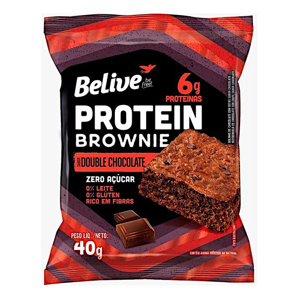 Brownie-Protein-Double-Chocolate-Zero-Acucar-Belive-40g