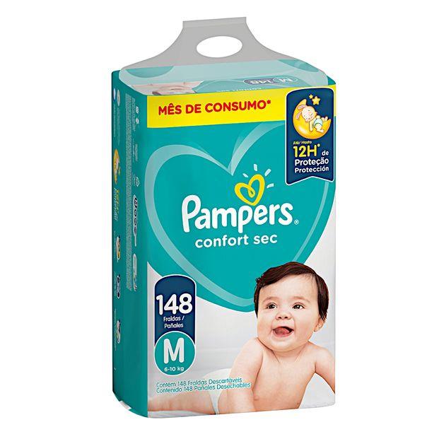 Fralda-Descartavel-Infantil-Confort-Sec-M-com-148-Unidades-Pampers
