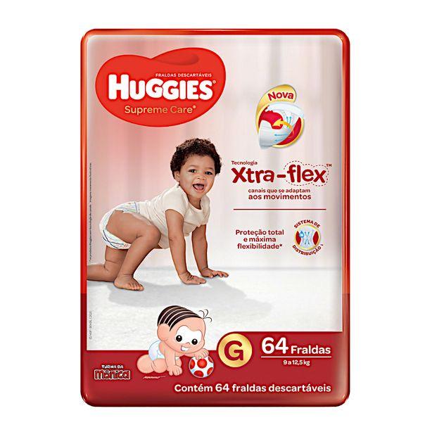 Fralda-Descartavel-Infantil-Huggies-Supreme-Care-G-com-64-Unidades