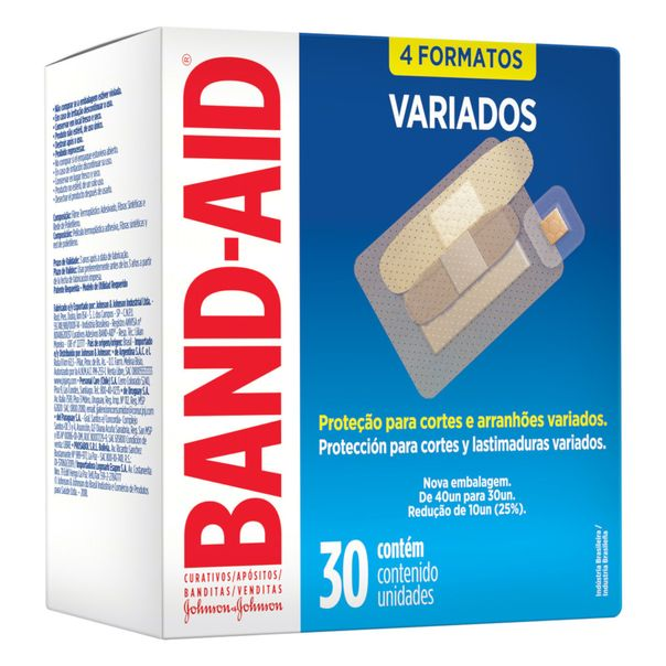 Curativo-Transparentes-Variados-BAND-AID-com-30-Unidades