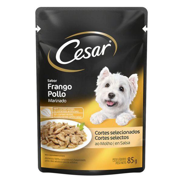 Alimento-para-Caes-Adultos-Frango-Marinado-Cesar-Sache-85g