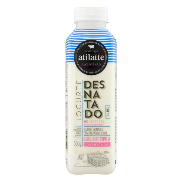 Iogurte-Desnatado-Mel-Atilatte-Garrafa-500g