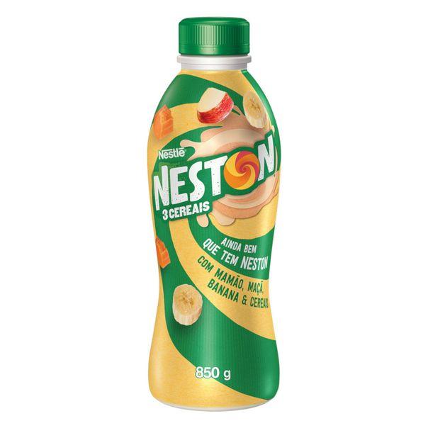 Iogurte-Parcialmente-Desnatado-Mamao-Maca-Banana-e-Cereais-Neston-3-Cereais-Garrafa-850g